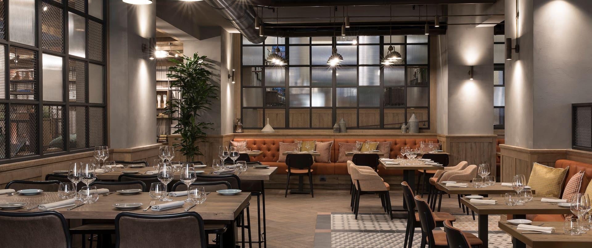 Mamalia restaurant dining seating area
