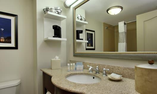 Guest Bath Vanity and Amenities