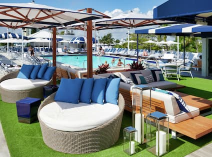 Hotel Pool Deck and Lounge Area