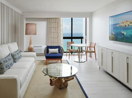 Suite Living Room with Ocean View