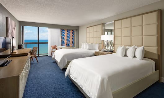 Two Double Bed Guestroom with Ocean View