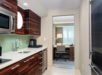 King Suite Kitchen with Room Technology