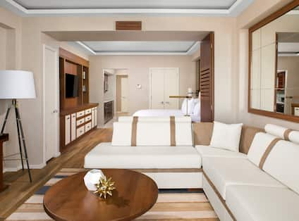 Guest Living Room Area with L-Shaped Sofa