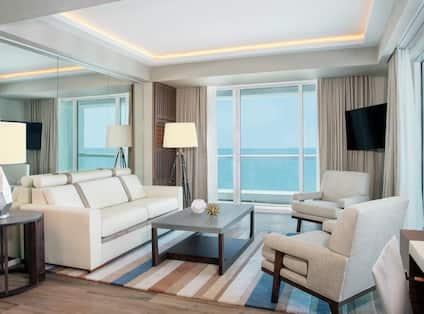 Accessible Oceanfront One Bedroom, Living Area