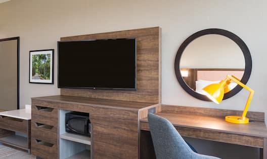 Guestroom Work Desk and TV