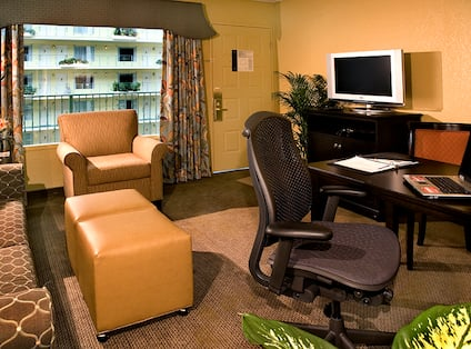 Living Area of the King Suite