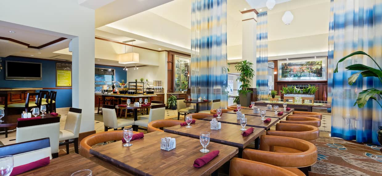 Restaurant Seating Area with Chairs and Tables
