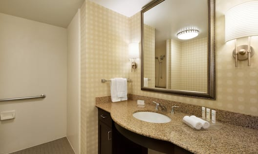 Guest Bathroom with Accessible Roll In Shower