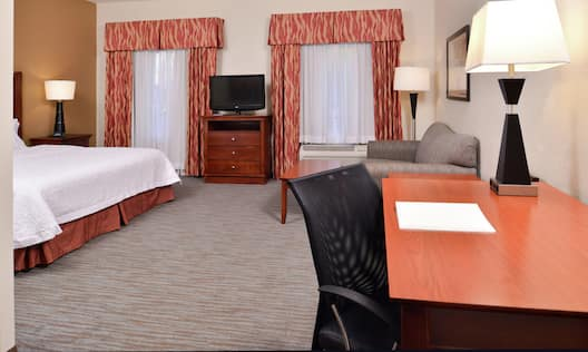 Suite with King Bed and Work Desk