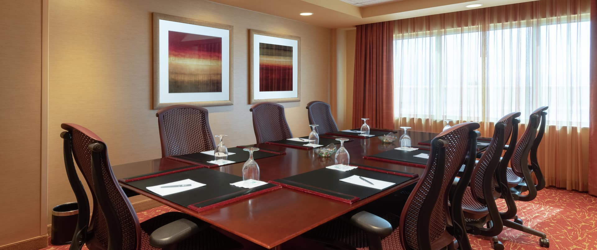 Conference Table and Chairs in Hospitality Suite