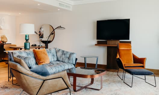 King Penthouse Suite Living Area
