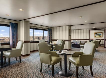 Executive lounge with tables and chairs