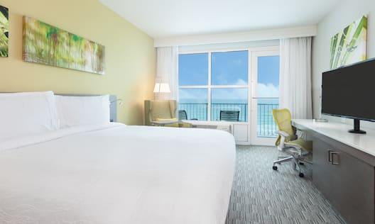 King Room with Beachfront Balcony