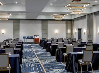 Ballroom Classroom Set Up