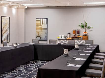 Meeting Room With U-Shape Tables