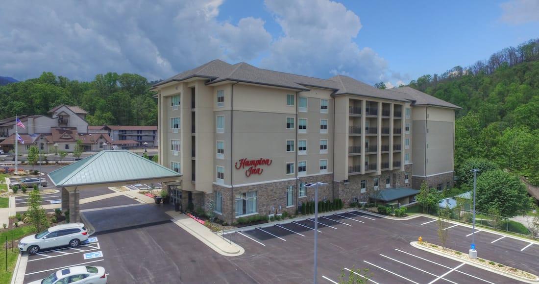 Hotel Building Exterior Parking Lot