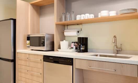 Accessible Queen Studio Kitchen Area