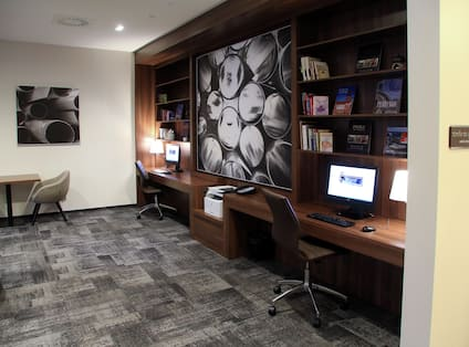 Hampton Inn Business Center with Room Technology and Chairs