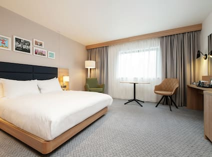 Accessible Guest Room with King Bed and Television