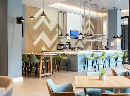 Hotel Bar and Lobby Seating Area