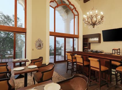 Executive Lounge Area Setup for Dining
