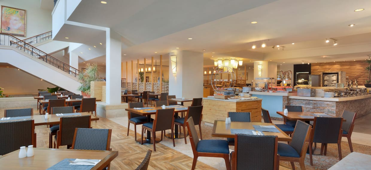 Restaurant Dining Area with Chairs and Tables