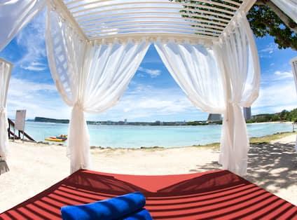 Cabana Lounge Area With Beach View
