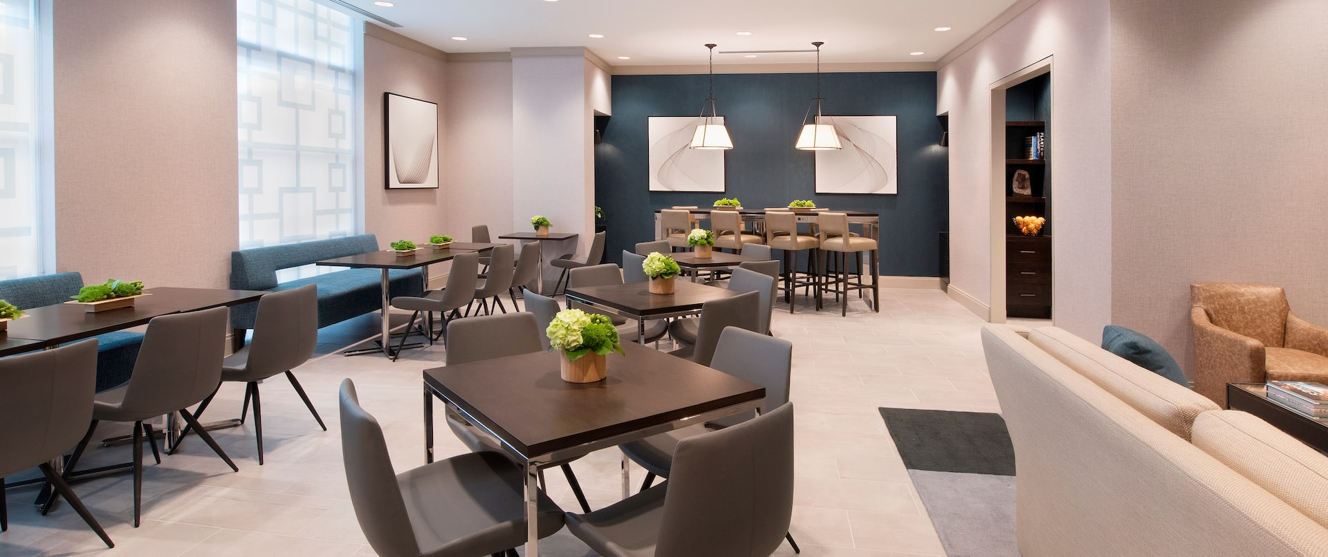 Executive Lounge with Casual and Dining Seating