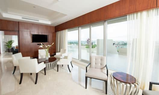 Presidential Suite Terrace with Large Windows