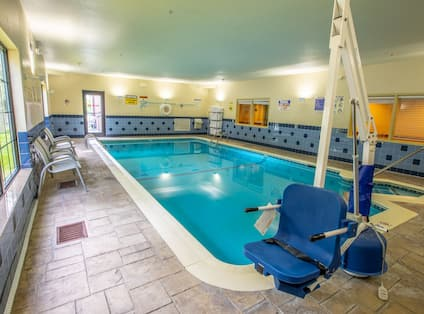 Indoor pool with accessible access