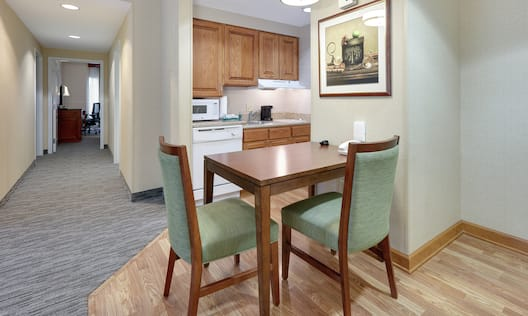Accessible Guest Suite Kitchen and Dining Area