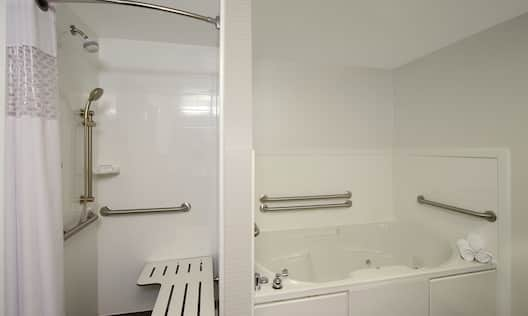 Whirlpool Tub and Accessible Shower