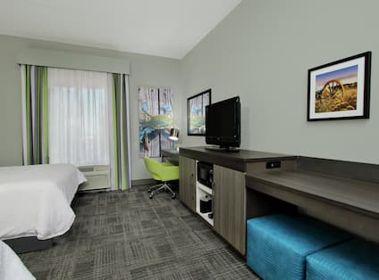 Two Queen Room with Work Desk and TV