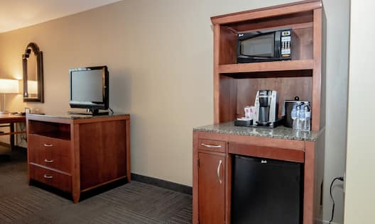 Standard Kitchenette and Room Television