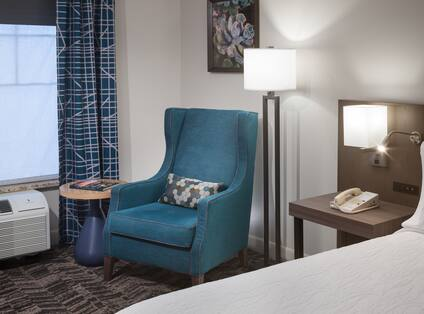 Guestroom with King Bed and Lounge Chair
