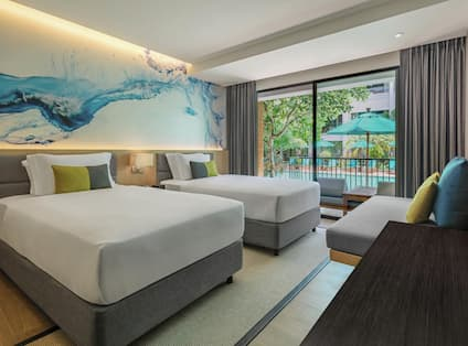 Twin Premium Pool Side Room