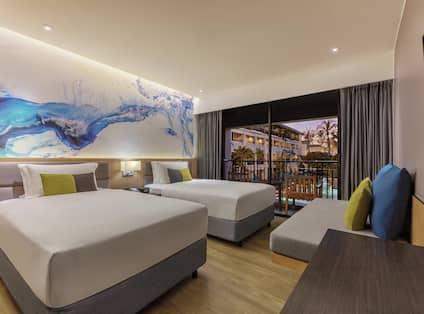 Twin Premium Guest Bedroom with Balcony