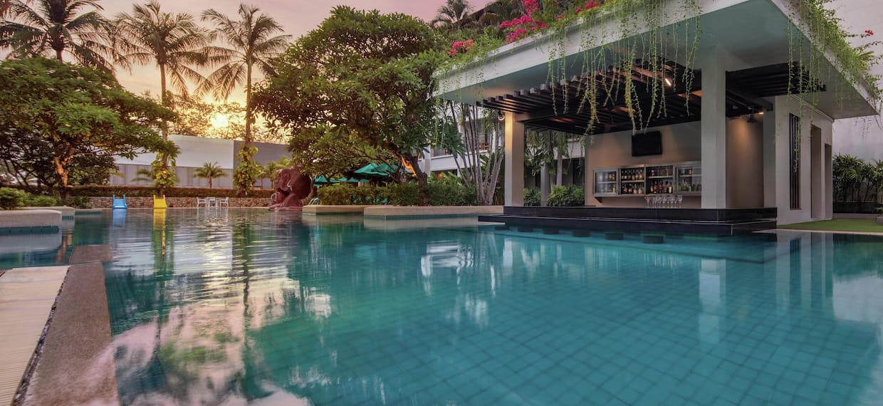 Pool Bar with Sunset View