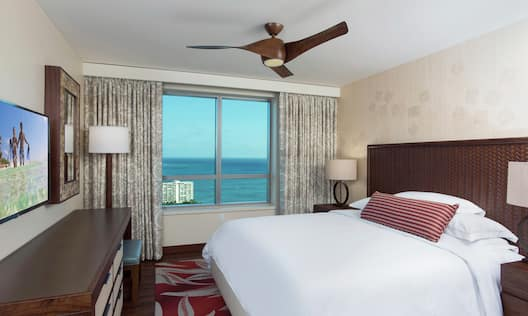 Guest Bedroom with Ocean View and HDTV
