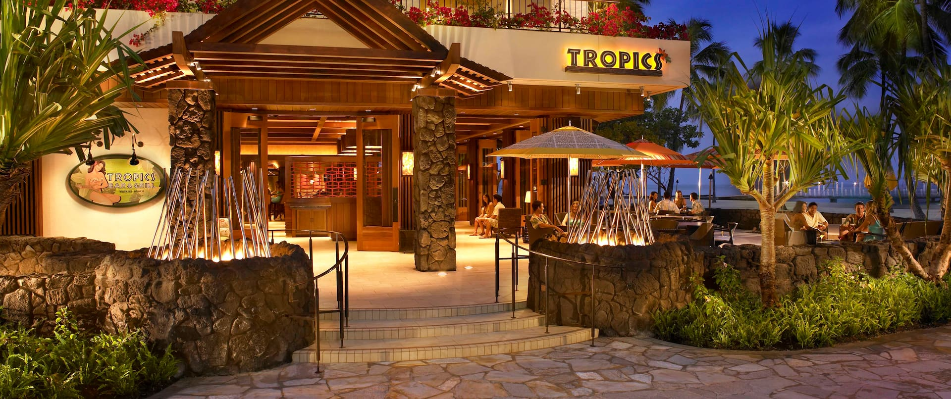 Tropics Bar and Grille - Night