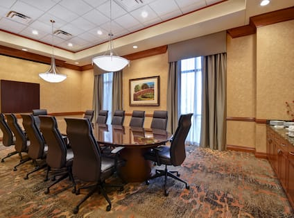 View of Executive Boardroom with HDTV