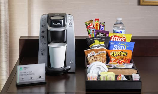 Coffee and Snack Station in Guest Suite