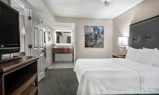 Homewood Suites by Hilton Houston-Clear Lake Hotel, TX - King Bed Guest Room