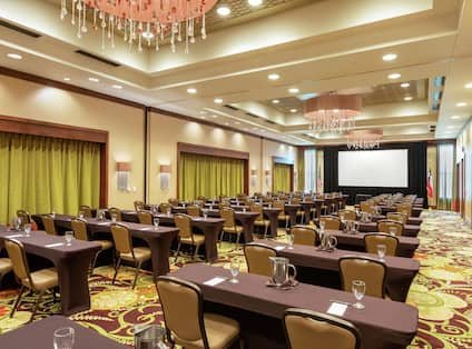 Embassy Suites Ballroom Set up Classroom Style