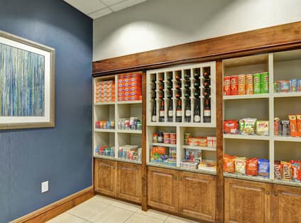 Convenience Items and Snacks Available at Suite Shop