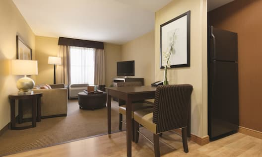 Suite, Kitchen and Living Area