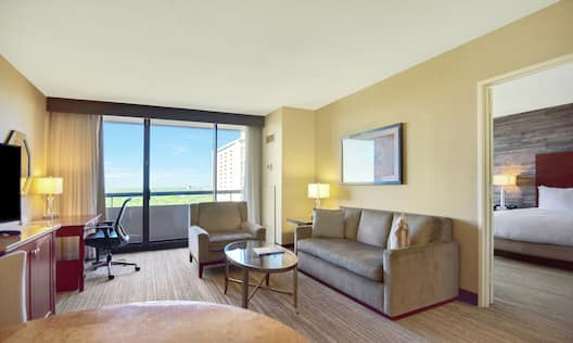 King Suite Living Area with Outside View