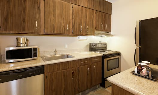 Accessible Kitchen with Stainless Steel Appliances