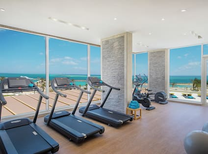 Fitness Center with Panoramic Sea View