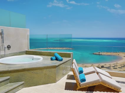Jacuzzi on Terrace of Suite Overlooking the Red Sea